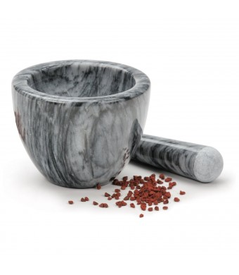 RSVP Gorgeous Grey Marble Mortar and Pestle