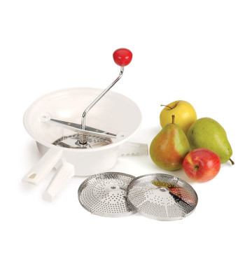 Classic Rotary Style Food Mill with 3 Stainless Steel Blades