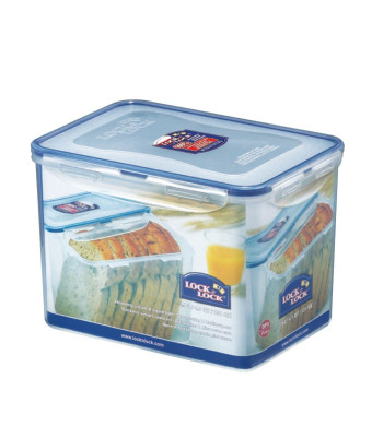 Lock and Lock Rectangular Food Container, Tall, 16.2-Cup, 131-Fluid Ounces