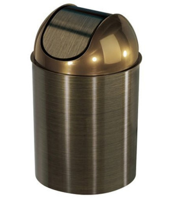 Umbra Mezzo Trash Can, Bronze (with lid)