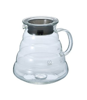 Hario V60 Range Coffee Server, 800ml, Clear