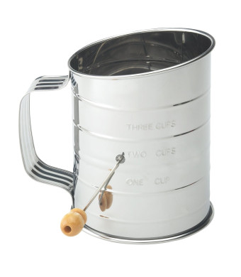 Mrs. Anderson's Baking Crank Flour Sifter, 3-cup