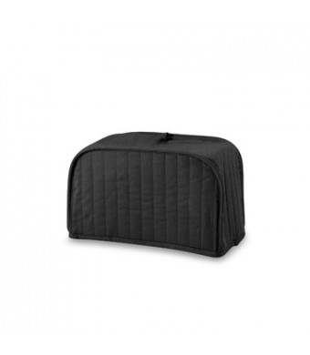 Ritz Quilted Two Slice Toaster Cover, Black