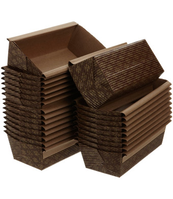 Kitchen Supply 6 x 2.5 x 2 Inch Paper Loaf Pan, Set of 25