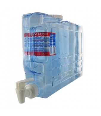 1.25 Gallon Slimline Beverage Container in Clear