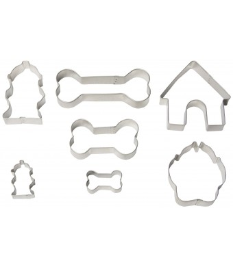 R and M Industries 1947 Dog Bone Cookie Cutters, Set of 7