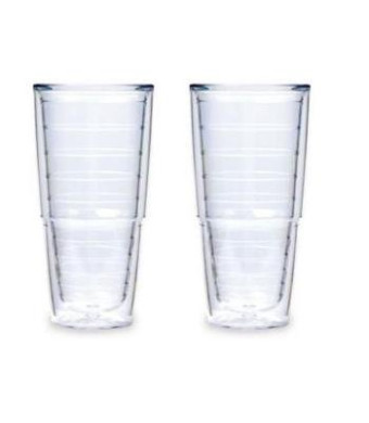 Tervis Tumbler, 24-Ounce, Clear, 2-Pack