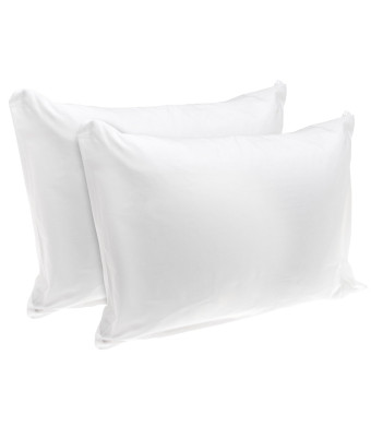 Rest Right 100% Cotton Zippered Pillow Protector, Set of 2