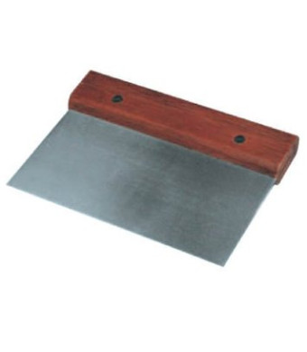 Winware Stainless Steel Dough Scraper with Wood Handle