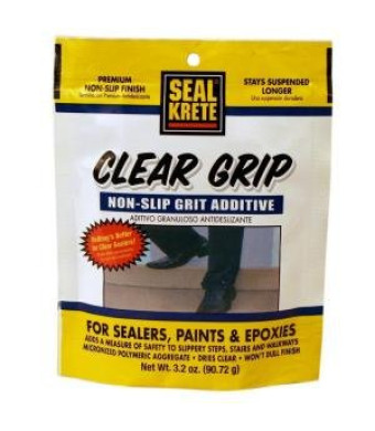 Seal Krete 40202 Clear Grip Non-Skid Grip Additive for Sealers, Paints and Epoxies