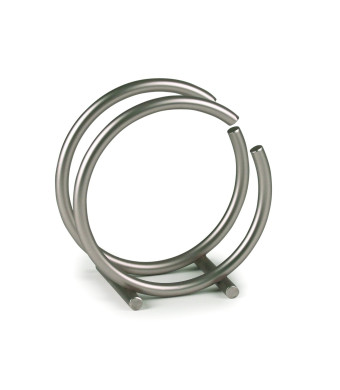 Spectrum 50278 Euro Round Napkin Holder, Satin Nickel
