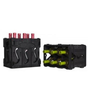 Storvino Nero 6 Bottle Wine Storage Container