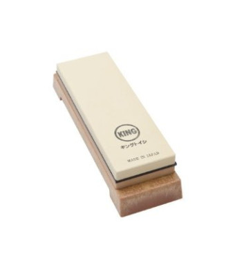 King Two Sided Sharpening Stone with Base - #1000 and #6000