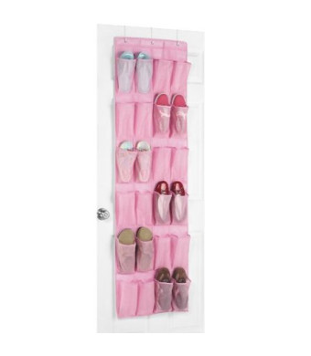 Whitmor 6636-1253-PINK Fashion Polypro color Organizer Collection Over-the-Door Shoe Organizer, Pink