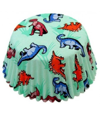 Fox Run Dinosaur Standard Bake Cups, 50 Cups