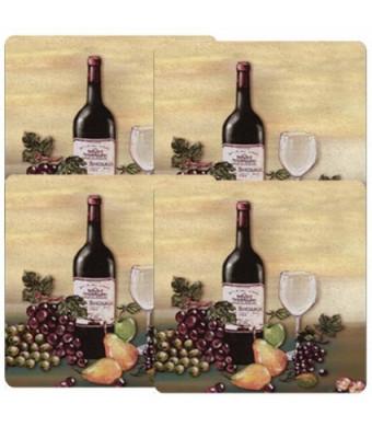 Reston Lloyd Gas Burner Covers, Set of 4, Barnyard, Wine and Vines