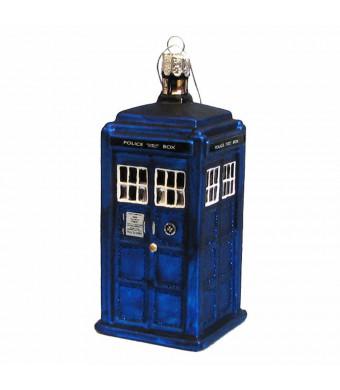 Kurt Adler 4-1/4-Inch Doctor Who Tardis Figural Ornament (Plastic)