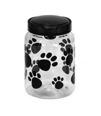 Pet Canister 9.8 Cup Black Paw