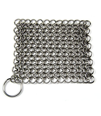 Knapp Made CM Scrubber™ - Chain Mail Scrubber for Cast Iron Cookware