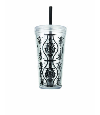 Copco 24-Ounce Minimus Damask Tumbler, Black