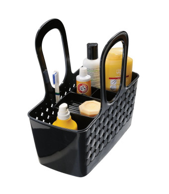 InterDesign Orbz Divided Bath Shower Tote, Small, Black