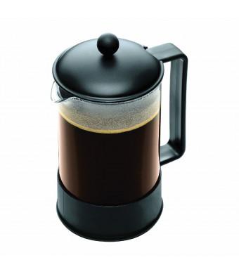 Bodum Brazil 1-1/2-Liter French Press Coffee Maker, 12-Cup, Black