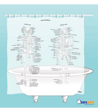 Human Skeleton Shower Curtain - EVA vinyl