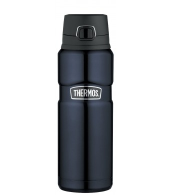 Thermos Stainless King 24-Ounce Drink Bottle, Midnight Blue