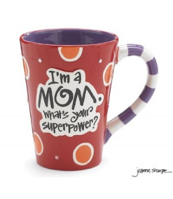 "I'm A Mom, What's Your SuperPower?""  12oz Coffee Mug Great Gift for Mother"
