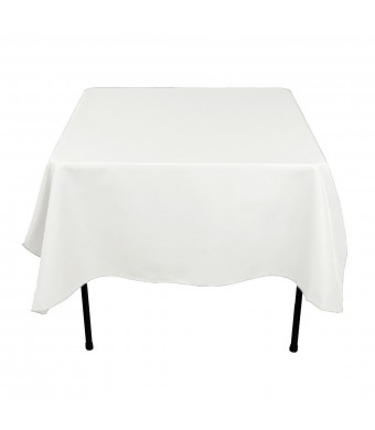 LinenTablecloth 70-Inch Square Polyester Tablecloth White
