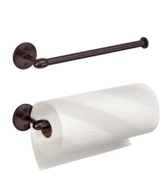 InterDesign Orbinni Wall Mount Paper Towel Holder, Bronze