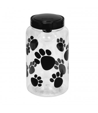 Pet Canister 17.2 Cup Black Paw