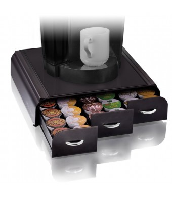Mind Reader Anchor Coffee Pod Storage Drawer for 36 Keurig K-Cup, Black