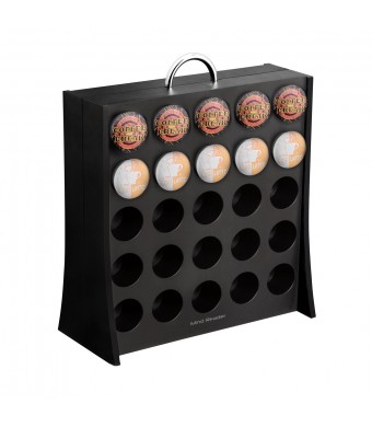 "Mind Reader ""The Wall""  50 Capacity K-Cup Coffee Pod Display Rack Holder, Black"