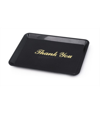 New Star 26917 Tip Tray Restaurant Guest Check Bill Holder, 4.5 by 6.5-Inch, Black with Gold Imprint, Set of 12