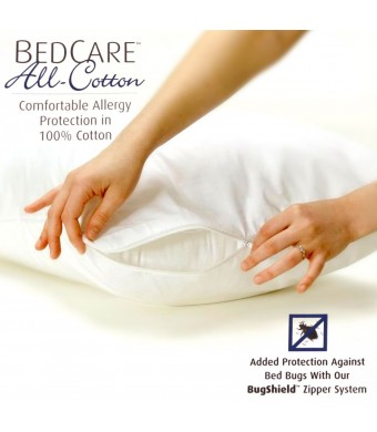 BedCare All-Cotton Allergy Pillow Cover - Standard
