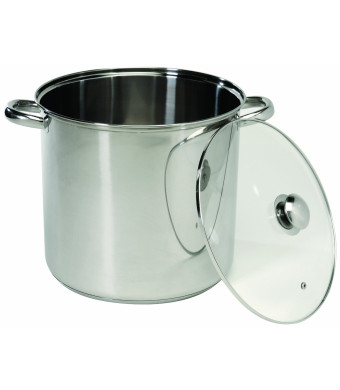 ExcelSteel 548 Stainless Steel Stockpot with Encapsulated Base, 8-Quart