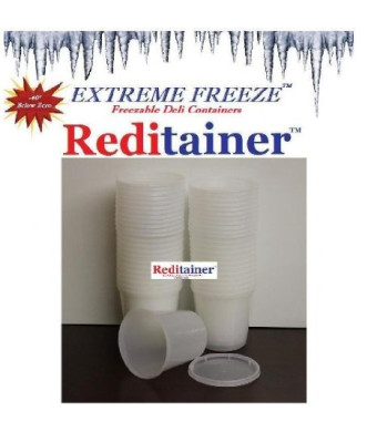 Reditainer Extreme Freeze Deli Food Containers with Lids, 30-Pack