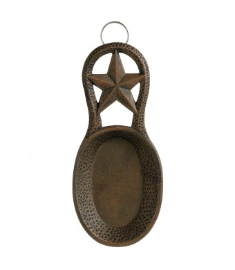 Old Dutch Star Spoon Rest, 8-1/2 by 3-3/4-Inch, Antique Copper