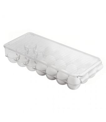 InterDesign Covered Egg Holder, 21 Eggs, Clear