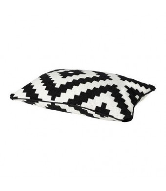 Ikea Cushion Cover, White/black