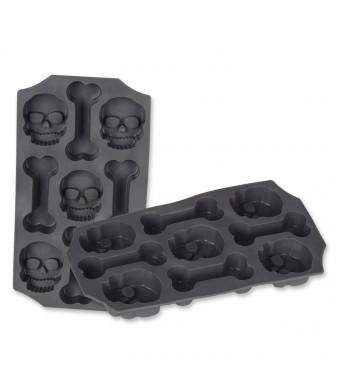Beistle Beistle Skull and Bones Ice Mold, Gray