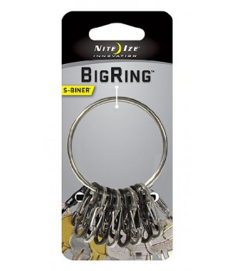 Nite Ize BRG-M1-R3 BigRing S-Biner and Ring, Stainless Steel