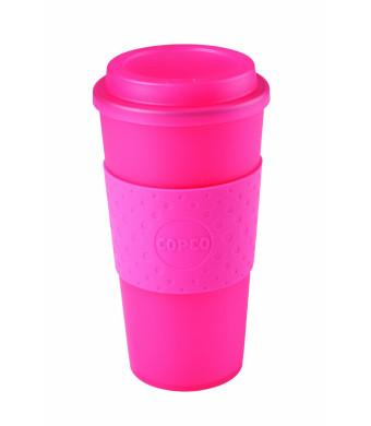 Copco 2510-0410 Acadia Travel Mug, 16-Ounce, Translucent Pink