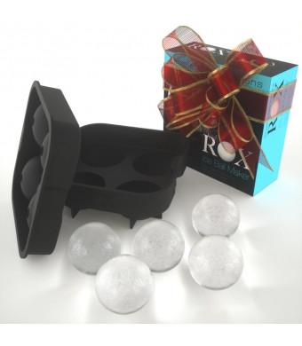 Rox Ice Ball Maker, 4x4.5 cm, Black