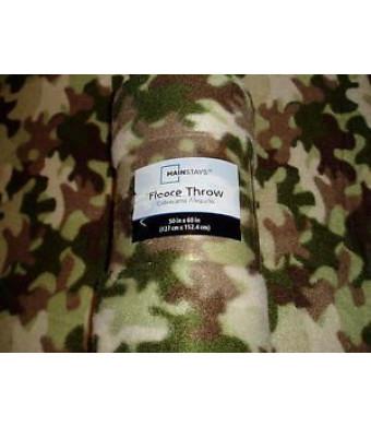 Camouflage Fleece Throw Blanket 50in X 60in - Camo Design
