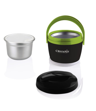 Crock-Pot SCCPLC200-GY-SHP Crock-Pot SCCPLC200-GY-SHP 20-Ounce Lunch Crock Food Warmer, Gray/Green, 1, Gray/Green