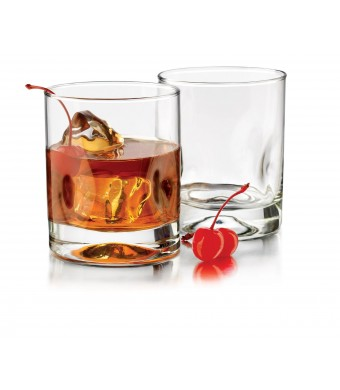 Libbey 4-Piece Impressions Double Old Fashioned Glasses, 12-Ounce, Clear