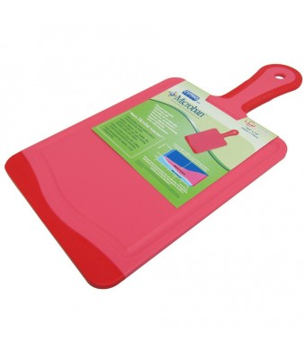 """Microban Antimicrobial Paddle Cutting Board with Handle Cherry Red - 14"""" x7""""  (CHERRY RED, 1)"""