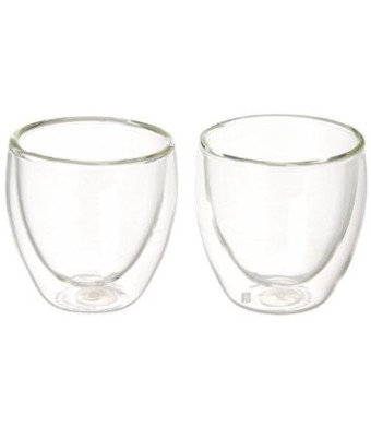 Bodum Pavina 2.5-Ounce Double Wall Glass, Extra Small, Clear- Set of 2
